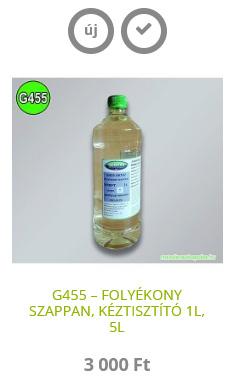 G455 – FOLYÉKONY SZAPPAN, KÉZTISZTÍTÓ 1L, 5L