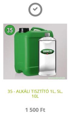 35 - ALKÁLI TISZTÍTÓ 1L, 5L, 10L